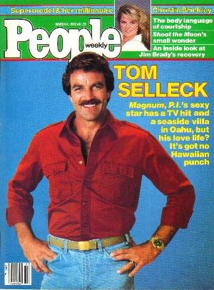 People Weekly Magazine March 8, 1982 TOM SELLECK Christie Brinkley