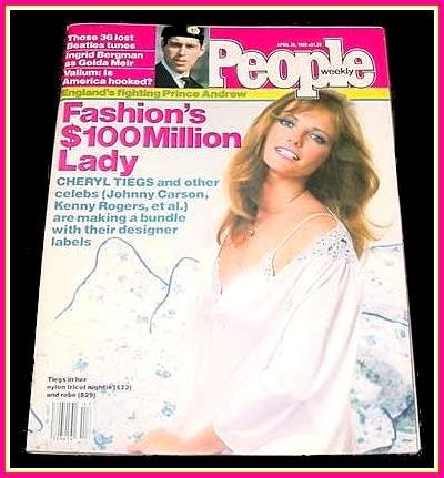 People Weekly Magazine April 26, 1982 CHERYL TIEGS Cover