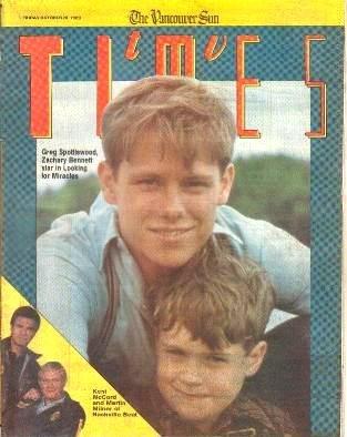 TV Times October 20, 1989 GREG SPOTTISWOOD Zachary Bennett