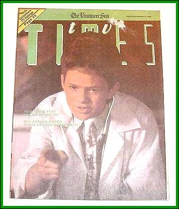 TV Times December 15, 1989 NEIL PATRICK HARRIS COVER & ARTICLE Ann Jillian Article