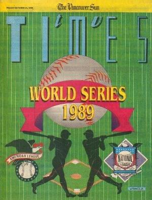 TV Times October 13, 1989 WORLD SERIES Michael Louden