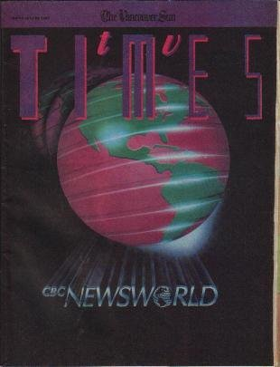 TV Times July 28, 1989 CBC Newsworld Debut BRETT HADLEY Phil Morris.