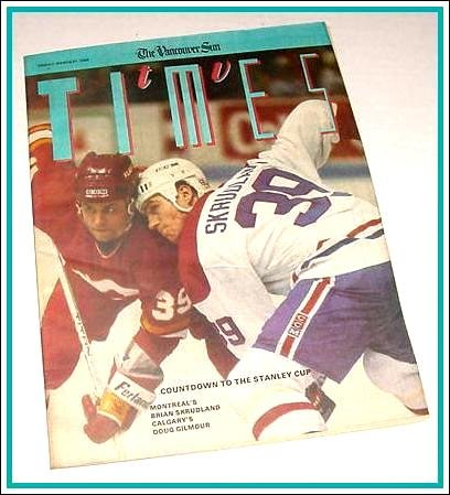 TV Times March 31, 1989 Stanley Cup BRIAN SKRUDLAND Doug Gilmour