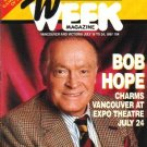 TV WEEK July 18, 1987 BOB HOPE COVER Jack Nicklaus