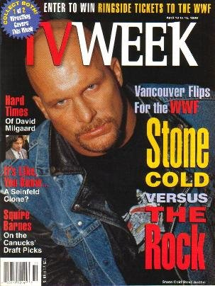 TV Week April 10, 1999 STONE COLD STEVE AUSTIN 1 of 2 Covers