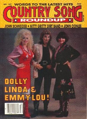 Country Song Roundup September 1987 DOLLY LINDA EMMYLOU Conlee