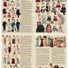 Miniature Reprinted Antique Paper Dolls & Article 7 PAGES