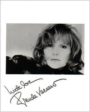 BRENDA VACCARO Signed 8x10 Black & White Press Photo