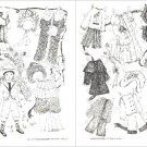 19TH CENTURY CHILDREN Magazine Paper Dolls 1986