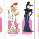 GLAMOROUS VAMPS AND SCAMPS Magazine Paper Dolls by Tom Tierney 3 PAGES