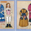 A BEAUTY OF OLDE Magazine Paper Dolls Elizabeth Richards 2 PAGES