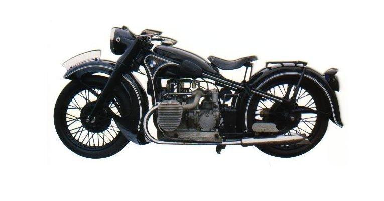 1935-38 BMW R.12 MOTORCYCLE Die-Cut Blank Greeting Card w/ Envelope
