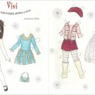 VIVI Magazine Paper Dolls by Diana E. Vining - 2 PAGES