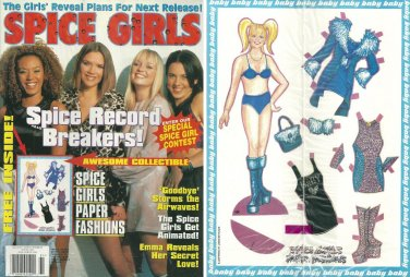 SPICE GIRLS MAGAZINE 1999 Bagged & Unopened w/ UNCUT Baby Spice PAPER DOLLS Emma