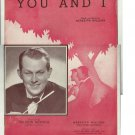 YOU AND I Theme Song of Maxwell House Coffee-Time Original Sheet Music 1941