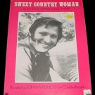 SWEET COUNTRY WOMAN Sheet Music JOHNNY DUNCAN PHOTO 1973
