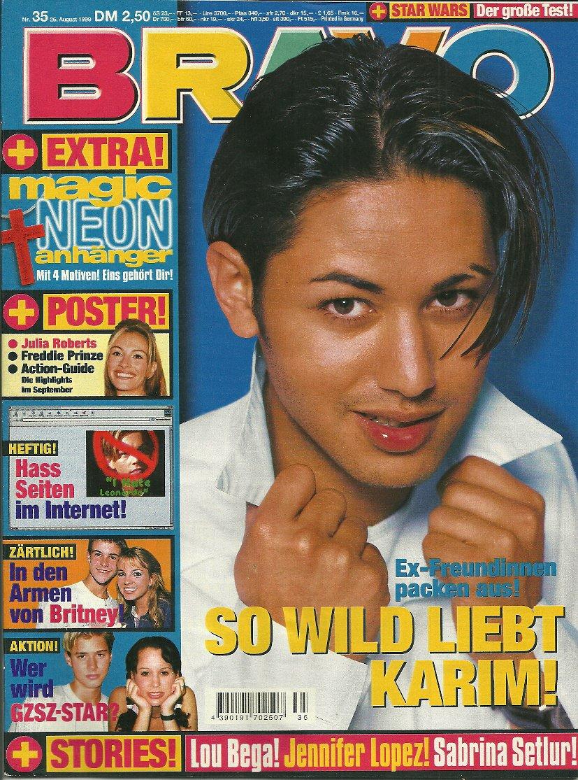 BRAVO MAGAZINE #35 August 26, 1999 Carlos Ponce JENNIFER LOPEZ Karim Maataoui