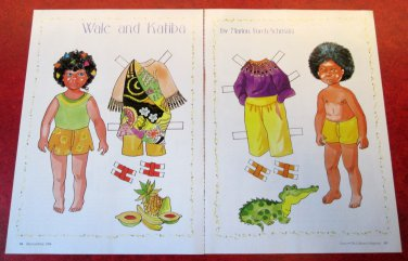 WALE AND KATIBA Magazine Paper Dolls by Marion Forek-Schmahl 1994
