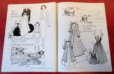 MOTHER & DAUGHTER Magazine Paper Dolls by Janet Carija Brandt 1984