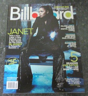 BILLBOARD MAGAZINE January 19, 2008 JANET JACKSON Idina Menzel SARAH BRIGHTMAN