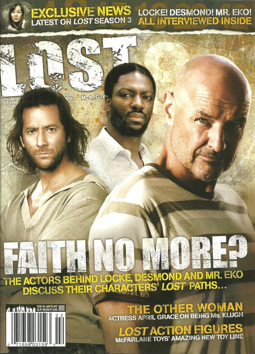 LOST THE OFFICIAL MAGAZINE Issue #8 January/February 2007 LOCKE Desmond MR. EKO