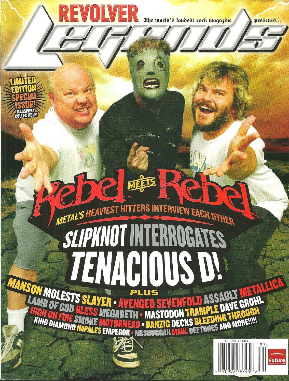 REVOLVER LEGENDS MAGAZINE Rebel Meets Rebel Spectacular 2008 SLIPKNOT Megadeth