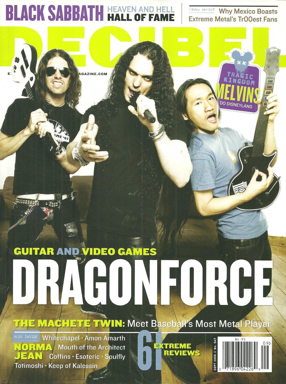 DECIBEL MAGAZINE No. 047 September 2008 DRAGONFORCE Black Sabbath NEW COPY!!!