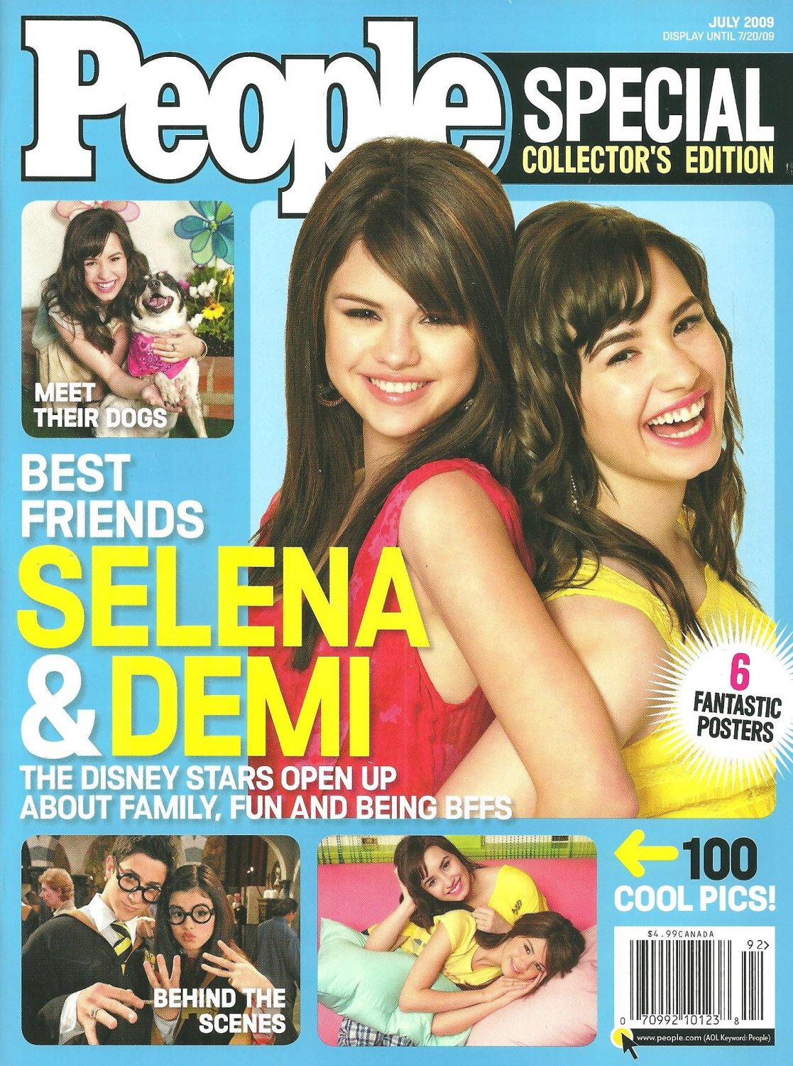 PEOPLE SPECIAL COLLECTOR`S EDITION July 2009 SELENA GOMEZ & DEMI LOVATO New Copy