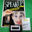 SPEAK UP MAGAZINE & CASSETTE April 1988 P.D. JAMES INTERVIEW Anti-Tobacco in US