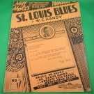 ST LOUIS BLUES Original Sheet Music For Trombone & Piano © 1929 MOLE & HANDY