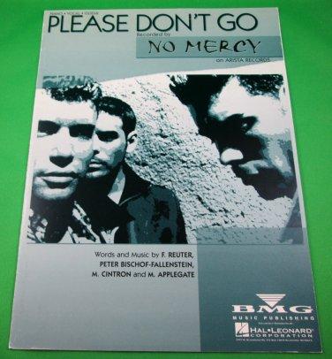 PLEASE DON'T GO Original Piano/Vocal/Guitar Sheet Music NO MERCY PHOTO © 1996