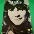 THIS GIRL (HAS TURNED INTO A WOMAN) Original Sheet Music MARY MACGREGOR © 1977