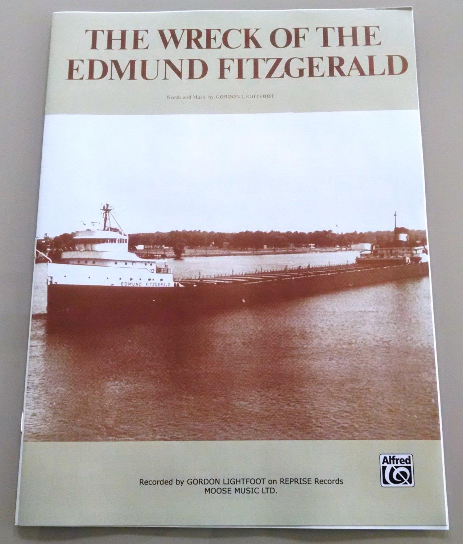 THE WRECK OF THE EDMUND FITZGERALD Sheet Music 1976 Gordon Lightfoot