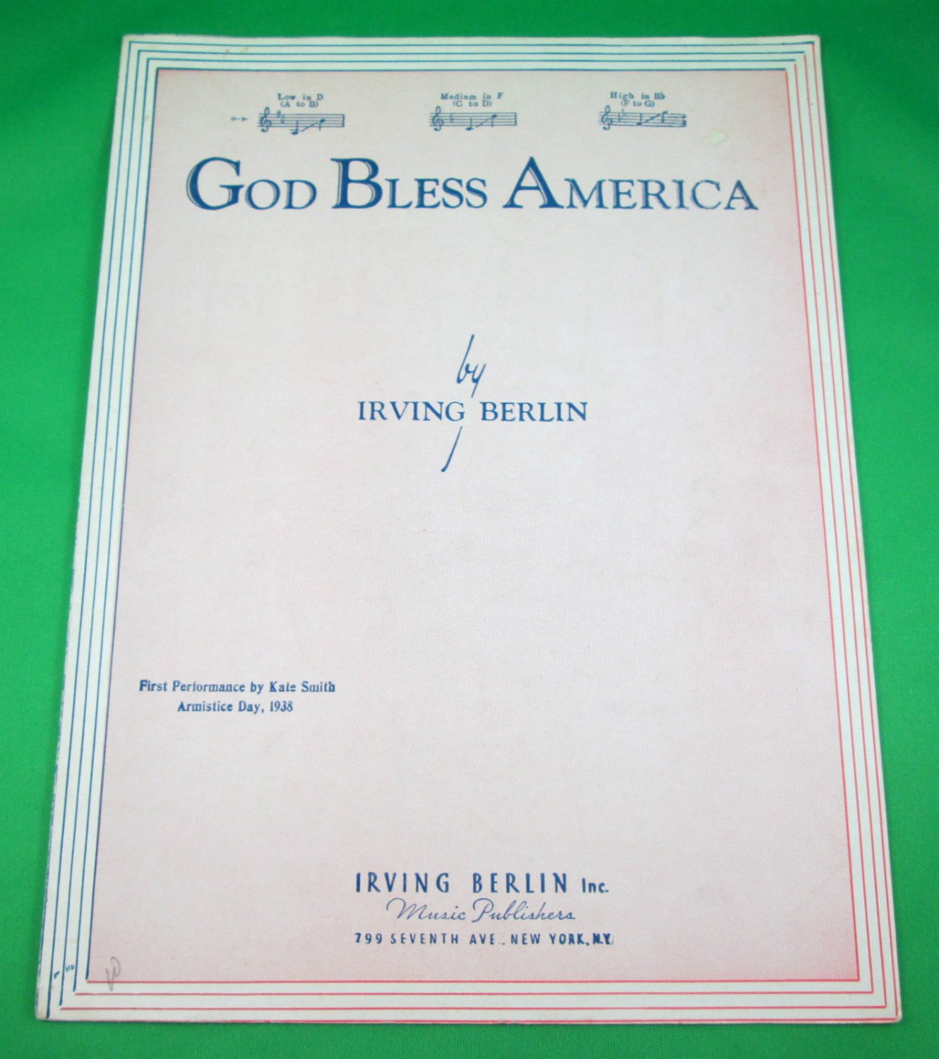 a review of irving berlins god bless america God bless america [irving berlin] on amazoncom  carol klose's arrangement  of irving berlin's classic for specifically arranged for  amazoncom review.