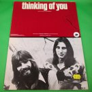 THINKING OF YOU Original Sheet Music LOGGINS & MESSINA COVER PHOTO © 1973