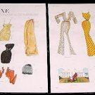 LADY LUXE Magazine Paper Dolls 2 BIG PAGES