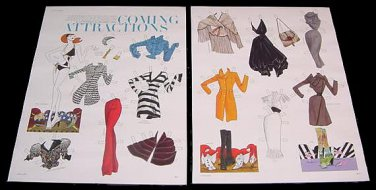 COMING ATTRACTIONS Magazine Paper Dolls 2 BIG PAGES