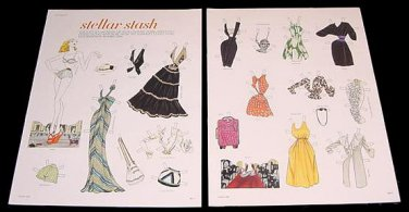 STELLAR STASH Magazine Paper Dolls 2 BIG PAGES
