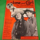 JANE AND CARL THE SUNSHINE PALS  Collection of Popular Radio Songs © 1941
