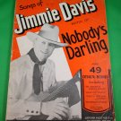 50 Songs of JIMMIE DAVIS Song Book © 1937