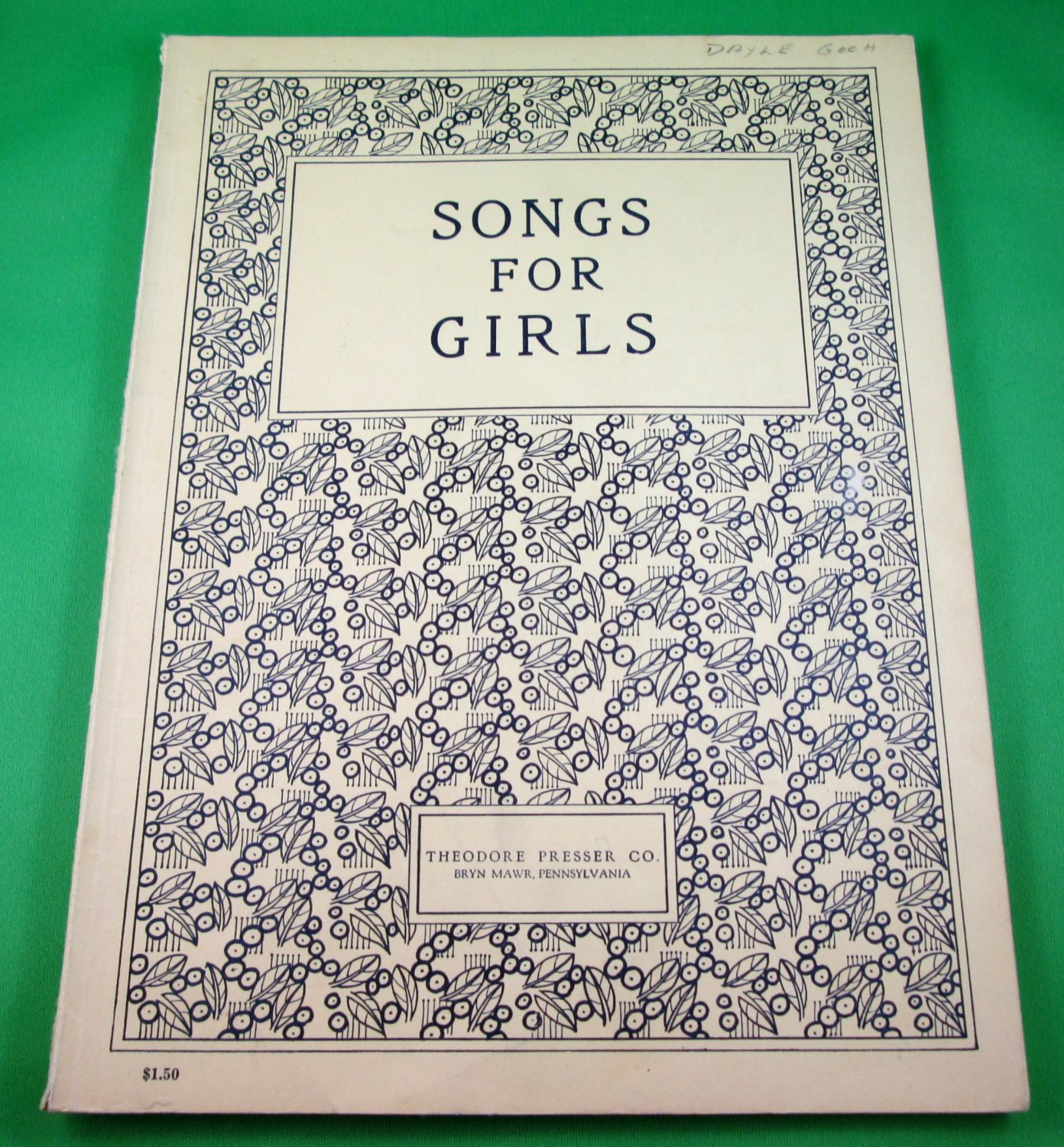 SONGS FOR GIRLS Piano/Vocal Song Book Collection of 29 Studio Songs © 1924