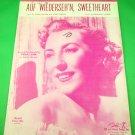 AUF WIEDERSEH'N, SWEETHEART Piano/VocalGuitar Sheet Music VERA LYNN © 1952