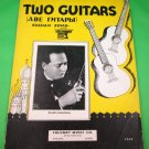 TWO GUITARS Russian Song Piano/Vocal/Guitar Sheet Music RALPH GINSBURGH © 1935