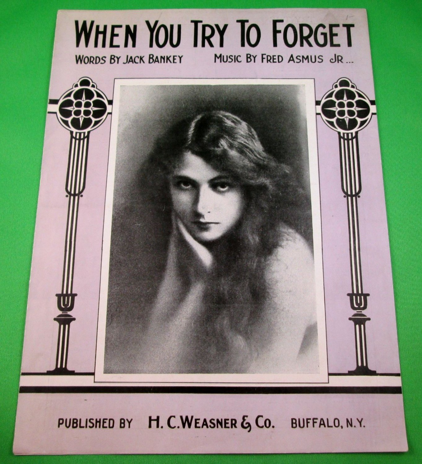 WHEN YOU TRY TO FORGET Vintage Piano/Vocal/Guitar/Uke Sheet Music © 1926
