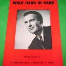 WALK HAND IN HAND Original Sheet Music DENNY VAUGHAN © 1956