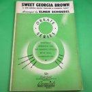 SWEET GEORGIA BROWN Sheet Music for Orchestra / Band ELMER SCHOEBEL © 1943