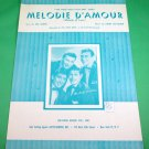 MELODIE D'AMOUR (MELODY OF LOVE) Piano/Vocal Sheet Music THE AMES BROTHERS 1957