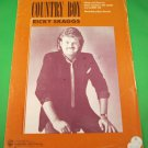 COUNTRY BOY Piano/Vocal/Guitar Sheet Music RICKY SKAGGS © 1985