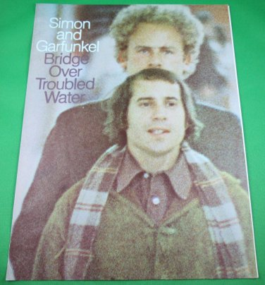 BRIDGE OVER TROUBLED WATER Piano/Vocal Sheet Music SIMON & GARFUNKEL © 1969