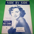 SIDE BY SIDE Piano/Vocal Sheet Music KAY STARR © 1953